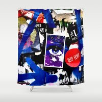 stickers Shower Curtains featuring Stickers by very giorgious