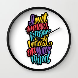 On Your Mind Wall Clock