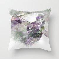 clint barton Throw Pillows featuring Clint Barton  by NKlein Design