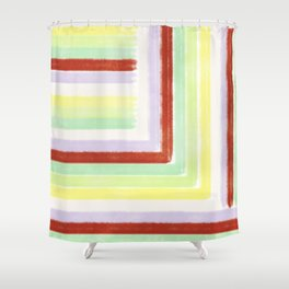 Colorful gums abstract lines and stripes Shower Curtain