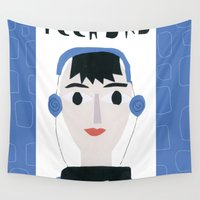 dad Wall Tapestries featuring Tech Dad by Susse Collection