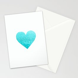 AQUA HEART Stationery Cards