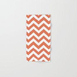 Burnt sienna - pink color - Zigzag Chevron Pattern Hand & Bath Towel