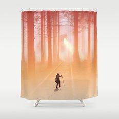 Where Light Never Ends Shower Curtain