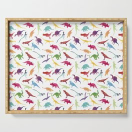 Watercolour Dinosaurs Serving Tray