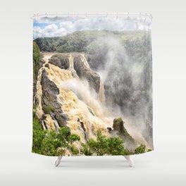Barron Falls under a summer sky Shower Curtain