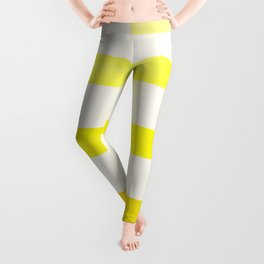 Mid Century Minimalist Ancient Aztec Inca Geometric Pattern Watercolor Yellow Colorful Gouache Paint Leggings