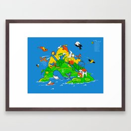 Where the Watermelons Grow. . . Framed Art Print