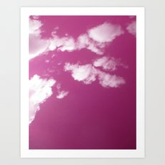 Cloudy in Pink Art Print