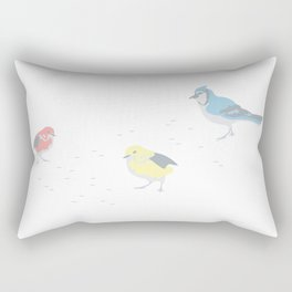 Little Birds (Primary Colors) Rectangular Pillow