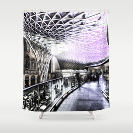 Kings Cross Station Art Shower Curtain