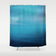 The Big Blue Shower Curtain