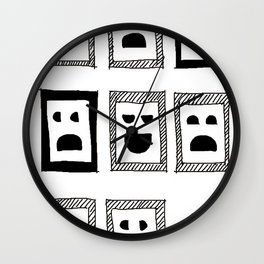 IQ question /sketch/ Wall Clock