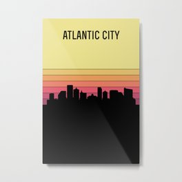 Atlantic City Skyline Metal Print