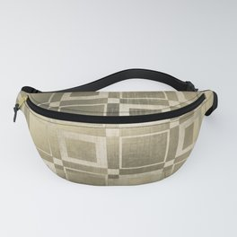 Muted Gold Squares Fanny Pack