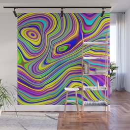 Neon Pour Wall Mural