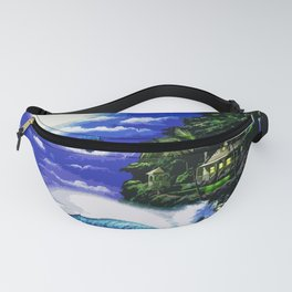Tardis Art And The Moon Shine Fanny Pack
