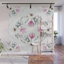 Floral Square Wall Mural