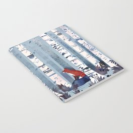 The Birches (in Blue) Notebook