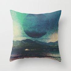 Fluid Moon Throw Pillow