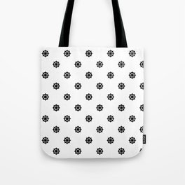 Dharma Wheel Pattern (Black and white) Tote Bag
