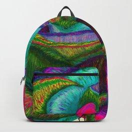 Pinkie Teal Neon Rose (Rainbow Roses) Backpack