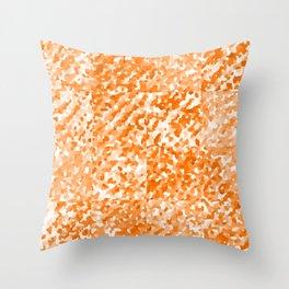 Orange Delight (Squares) Throw Pillow