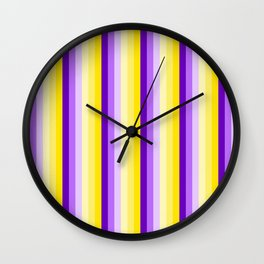 Complementary Color Harmony...yellow purple Wall Clock