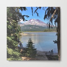 Sneaking up on South Sister. Metal Print
