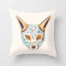 Andrew, the Fox Wrestler Throw Pillow