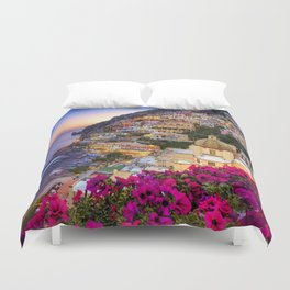 Positano Amalfi Coast Duvet Cover