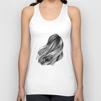 hair Tank Tops featuring hair by Isabel Seliger