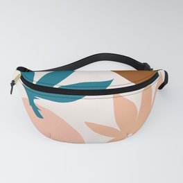 Abstraction_Floral_Shape_001 Fanny Pack