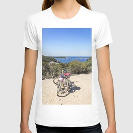 Bicycle pathway in a wood on the island of Porquerolles T-shirt