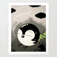 relax Art Prints featuring Relax by Ryan Snook