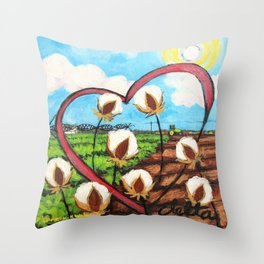 Heart Delta Throw Pillow