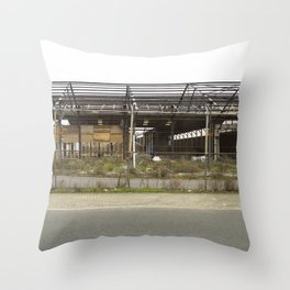 Grey Industrial Beauty Throw Pillow