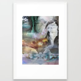 washed away Framed Art Print