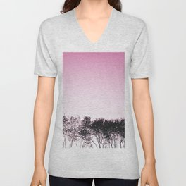 Lovely pink sky Unisex V-Neck