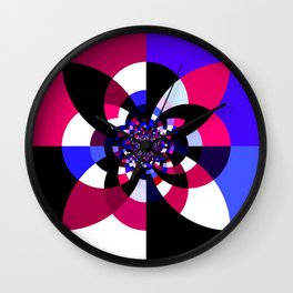 Magenta Purple Indigo Kaleidoscope Mandala Wall Clock