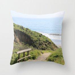 Path to the Edge Throw Pillow