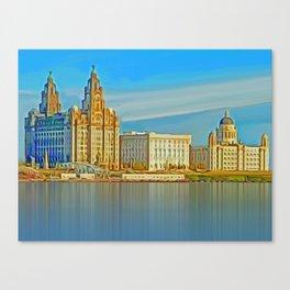 Water front Liverpool (Digital Art) Canvas Print