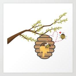 We bee long together Art Print