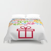 gift card Duvet Covers featuring Gift by aleksander1