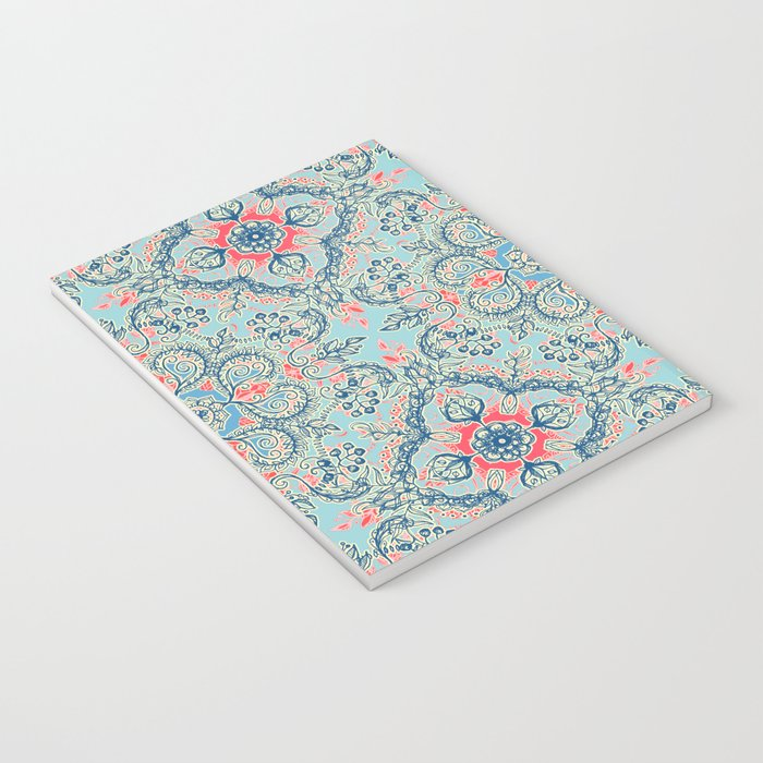 Gypsy Floral in Red & Blue Notebook