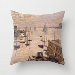 Claude Monet Painting Throw Pillow