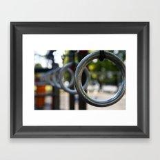Park Rings Framed Art Print