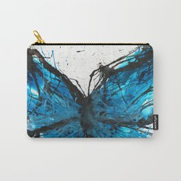 Blue butterfly ink splatter Carry-All Pouch