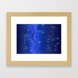 Blue Circle Background Framed Art Print