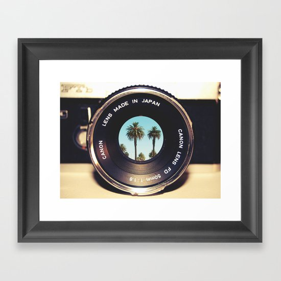 focus on palms Framed Art Print